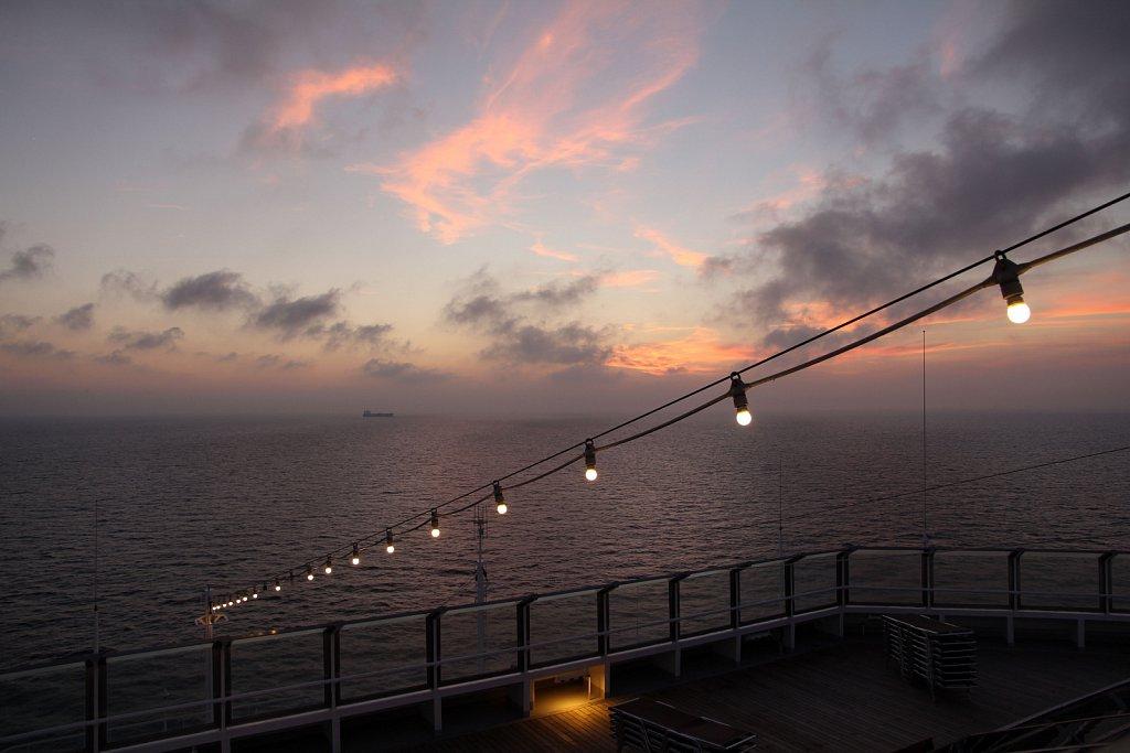 Sunset near Gibraltar