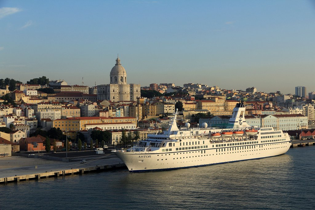 MS Astor at Lisboa port