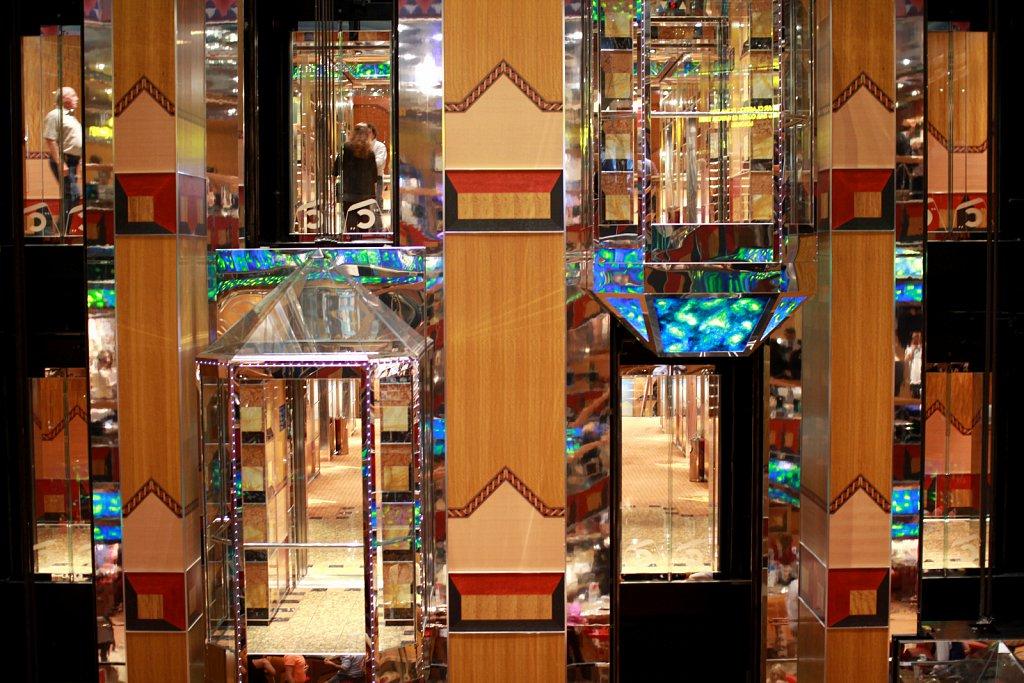 Costa Fortuna elevator scene