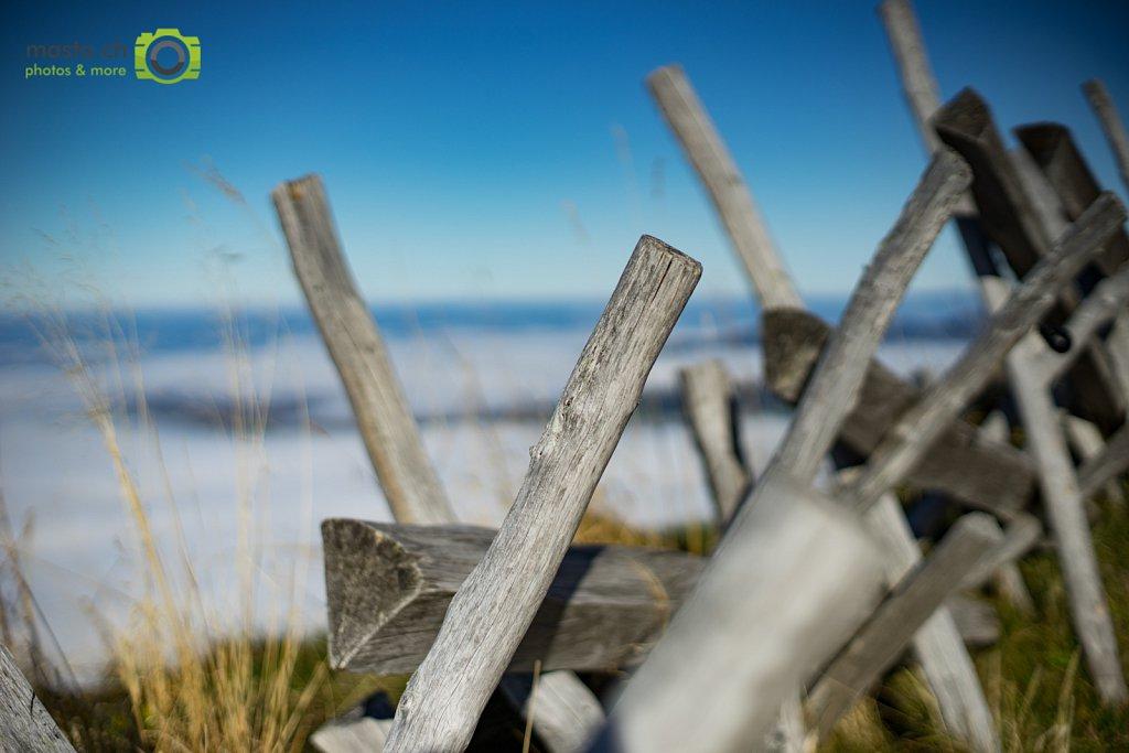 Wooden fence of Rigi
