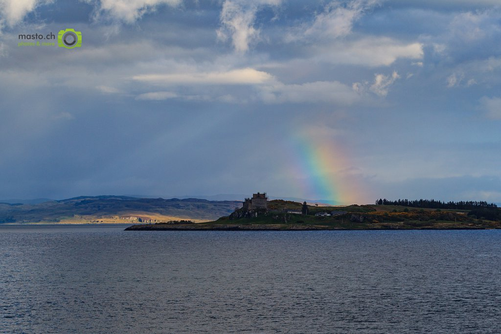 Rainbow over Duart Castle