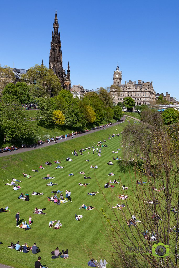 Scottish sunbathing